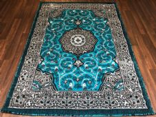 Modern Approx 6x4ft 115x165cm Woven Backed  Rugs Sale Top Quality New Greys/Teal